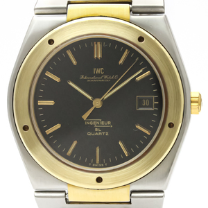 IWC Ingenieur Quartz Stainless Steel,Yellow Gold (18K) Men's Sports Watch 3303