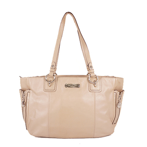 Auth Coach  F19252 Women's Leather Handbag,Tote Bag Beige