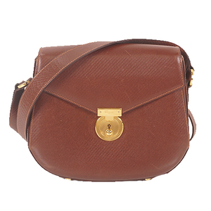 Salvatore Ferragamo Shoulder Bag Women's Leather Shoulder Bag Brown