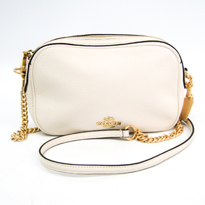 Coach F29000 Unisex Leather Shoulder Bag White