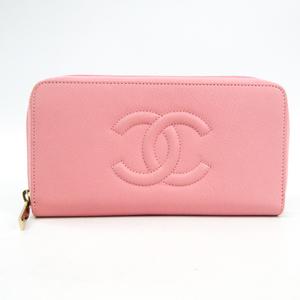 シャネル(Chanel) ラウンドジップ A50071 レディース  カーフスキン 長財布(二つ折り) ピンク