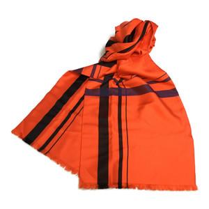 エルメス(Hermes) シルク スカーフ ペイズリー オレンジ