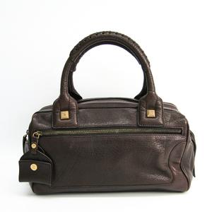 Celine Leather Handbag Brown
