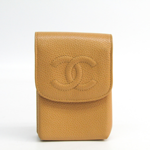 Chanel Cigarette Case Caviar Leather Beige A13511