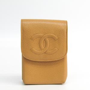 シャネル(Chanel) タバコケース キャビアスキン ベージュ A13511