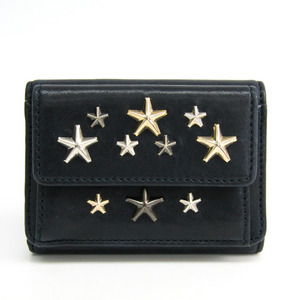Jimmy Choo Nemo J000104283001 Women's Leather Wallet (tri-fold) Navy