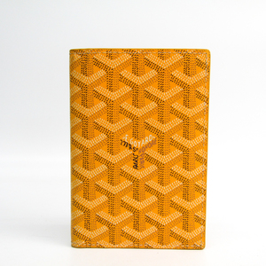 Goyard Grenelle/グルネル APMPASSEPORT-08 Canvas Leather Passport Cover Yellow