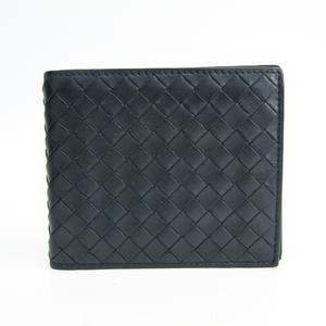 ボッテガ・ヴェネタ(Bottega Veneta) イントレチャート 113993 イントレチャート 財布(二つ折り) ネイビー