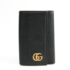 Gucci GG Marmont 435305 Unisex Leather Key Case Black