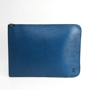 Louis Vuitton Epi Poche Document M54495 Briefcase Toledo Blue