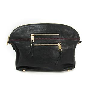 Chloé Angie Women's Leather Clutch Bag Black