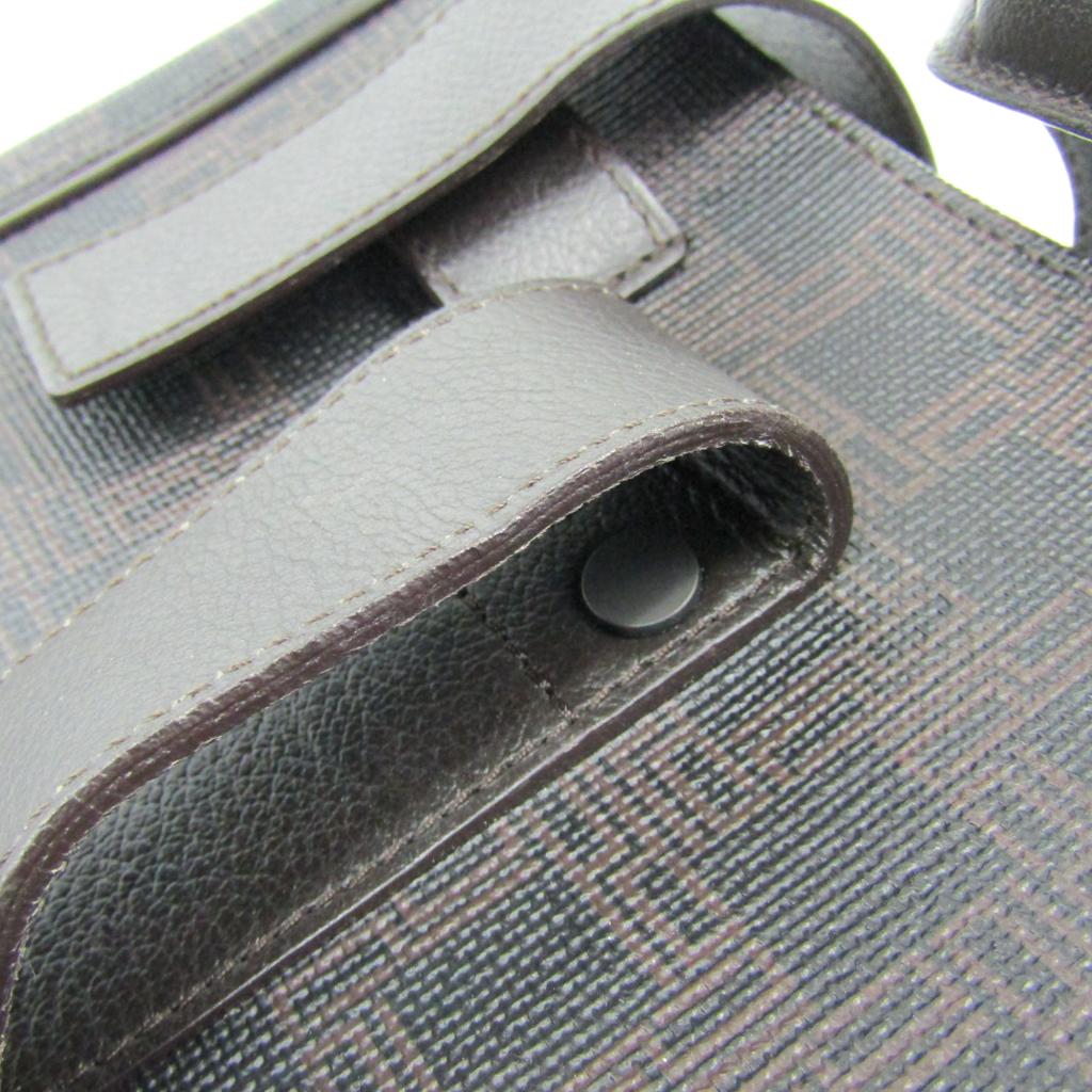 アルフレッド・ダンヒル(Alfred Dunhill) メンズ レザー,PVC トートバッグ ブラック,ブラウン
