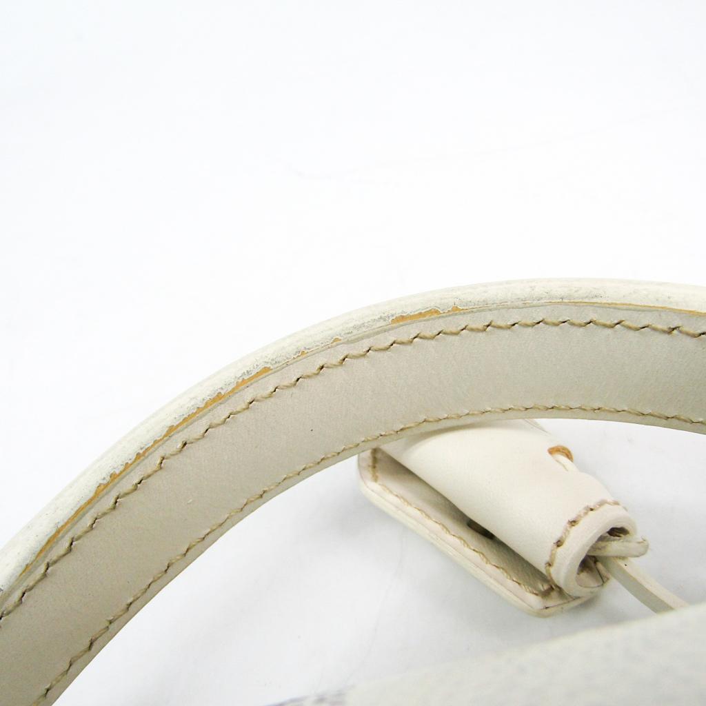 ゴヤール(Goyard) キプロス/Chypre AMACHYPRE2S メンズ レザー,キャンバス ブリーフケース ホワイト