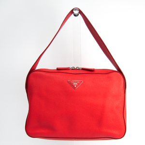 Prada Women's Leather Shoulder Bag Red