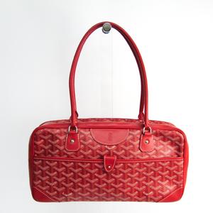 Goyard Saint Martin Leather,Canvas Handbag Red