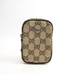 Gucci Cigarette Case GG Canvas,Leather Beige,Brown 115249