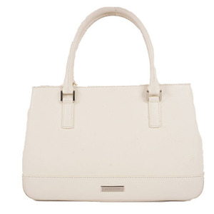 Auth Burberry Handbag Leather White