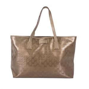 Auth Gucci GG Imprimé 211137 Tote Bag Khaki