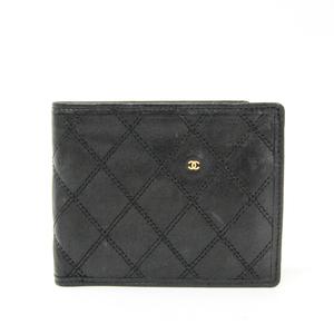 シャネル(Chanel) ビコローレ  ラムスキン 札入れ(二つ折り) ブラック