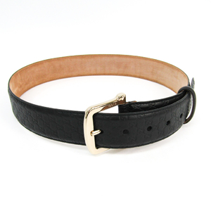 Gucci Guccissima 281548 Unisex Leather Belt Black 80