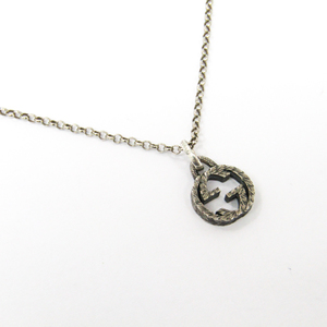 Gucci Gucci Interlocking 455307 J8400 0811 Silver 925 Unisex Pendant Necklace (Silver)