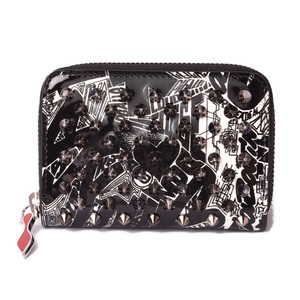 Christian Louboutin Coin Case Card louboutin PANETTONE COIN PURSE Pearl Platinum White Gold 1195068 H591