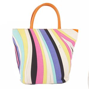 Emilio Pucci Totebag Women's Canvas Handbag,Tote Bag Ivory,Multi-color