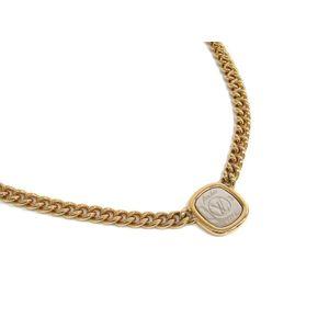 Louis Vuitton Metal Women's Necklace (Silver,Gold) M61090 I.D. Necklace