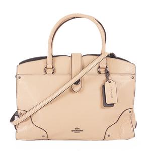 Coach Handbag Women's Leather Handbag,Shoulder Bag Beige