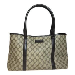 Auth Gucci GG Plus GG Supreme Bag Beige,Brown