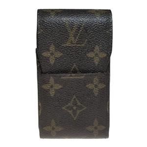 Auth Louis Vuitton Monogram Cigarette Case M63024 etui cigarette