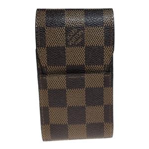 Auth Louis Vuitton Cigarette Case Damier Canvas Ebene N63024 etui cigarette