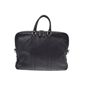 Gucci Guccissima Leather Briefcase Black