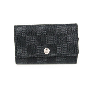 Louis Vuitton Damier Graphite 6 Key Holder N62662 Men's Damier Graphite Key Case Damier Graphite