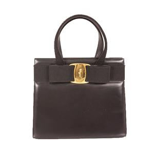 Auth Salvatore Ferragamo Vara Handbag