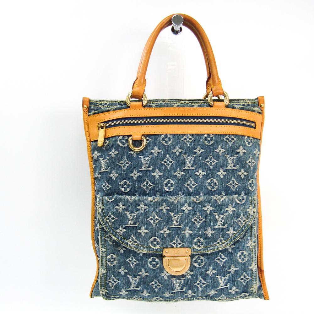 ルイ・ヴィトン(Louis Vuitton) モノグラムデニム フラット・ショッパー M95018 トートバッグ ブルー