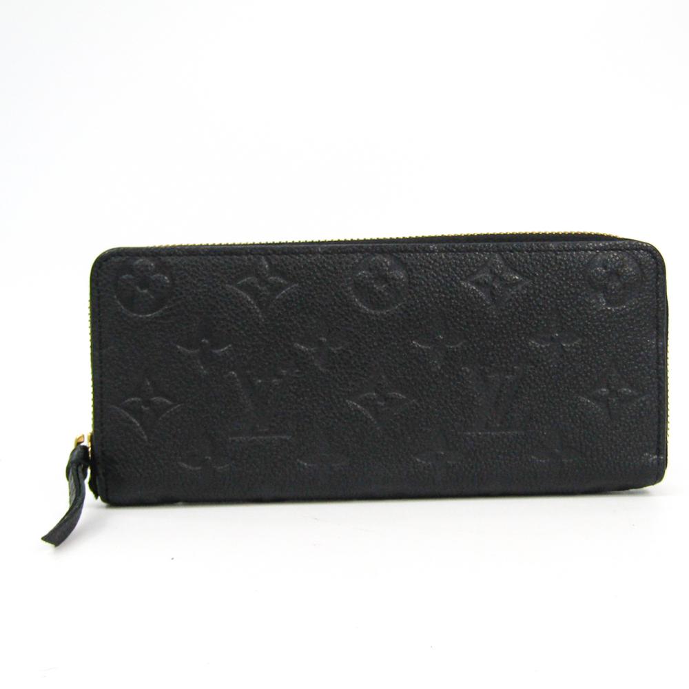 Louis Vuitton Monogram Empreinte Clemence Wallet M60171 Women's Monogram Empreinte Long Wallet (bi-fold) Noir