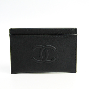 Chanel Leather Card Case Black