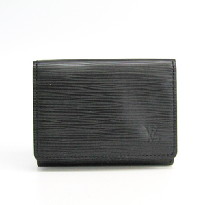 Louis Vuitton Epi Enveloppe Cartes De Visite M56582 Epi Leather Card Case Noir