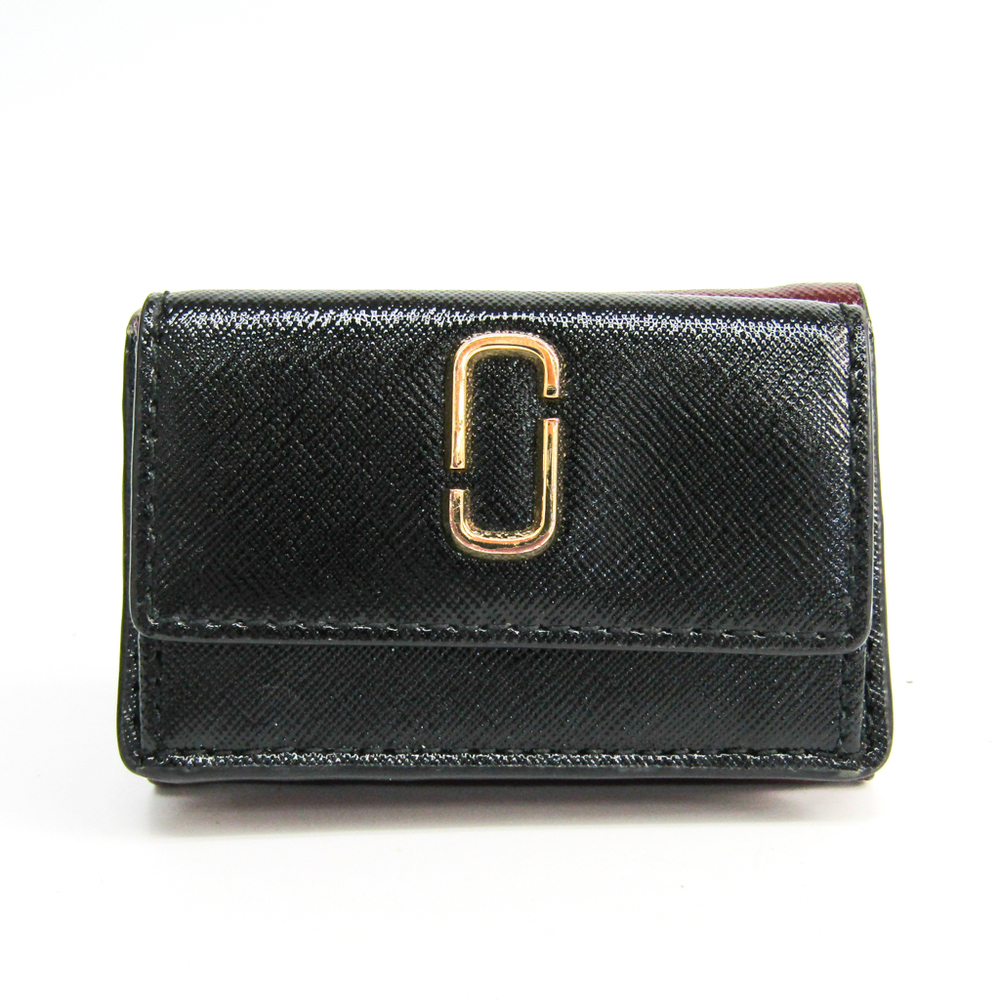 Marc Jacobs Snapshot TRIFOLD M0013597  Embossed Calf Leather Wallet (tri-fold) Black,Bordeaux,Red