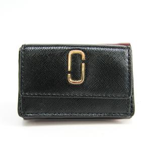 マーク・ジェイコブス(Marc Jacobs) スナップショット/Snapshot TRIFOLD M0013597  型押しカーフ 財布(三つ折り) ブラック,ボルドー,レッド