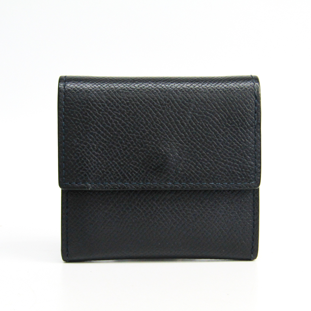 Camille Fournet Men's Leather Coin Purse/coin Case Dark Navy