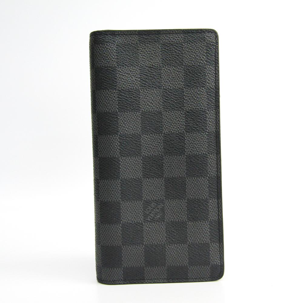 best website f983c 27c56 Louis Vuitton Damier Graphite Long Wallet N62227 Men's Damier Graphite Bill  Wallet (bi-fold) Damier Graphite | eLady.com