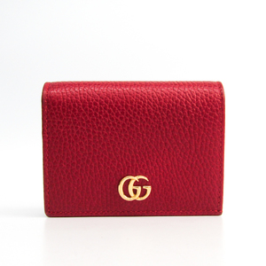 Gucci Leather Card Case Red 456126