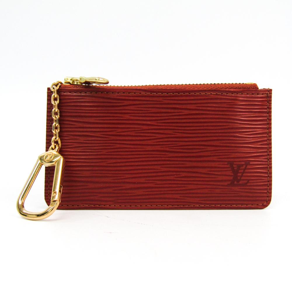 Louis Vuitton Epi M63803 Key Pouch Women's Epi Leather Coin Purse/coin Case Kenyan Brown