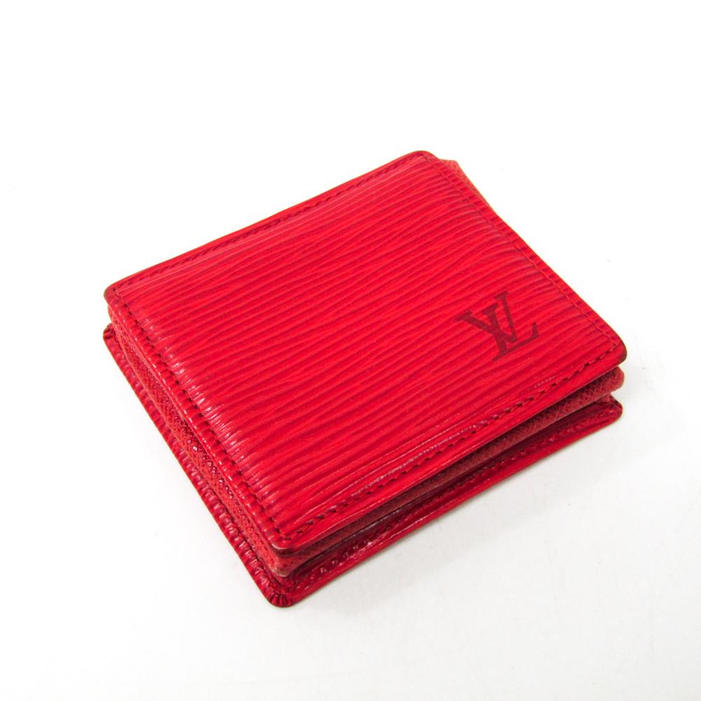 Louis Vuitton Epi M63697 Epi Leather Coin Purse/coin Case Castilian Red