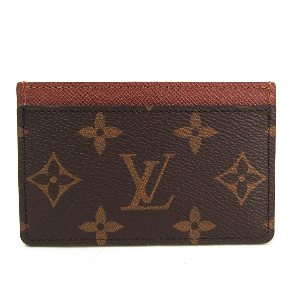 Louis Vuitton Monogram Monogram Card Case Monogram Simple card case M61733