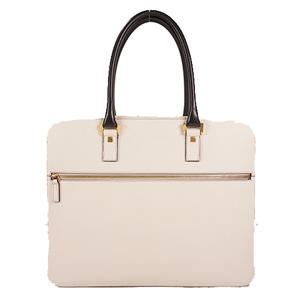 Auth Salvatore Ferragamo Briefcase Leather White