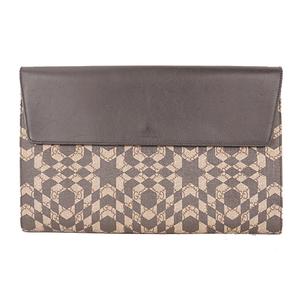 Auth Gucci GG Carre Id 406725  Clutch Bag Beige,Black