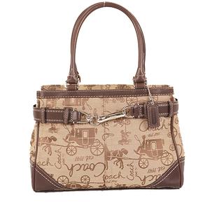 Coach Hose & Carriage F14444 Women's Canvas Handbag Beige